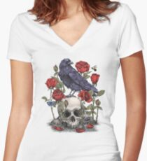 Memento Mori  Women's Fitted V-Neck T-Shirt