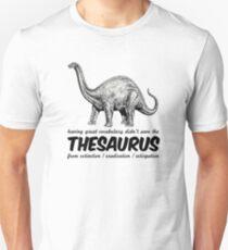 Thesaurus the dinosaur Unisex T-Shirt
