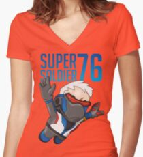 Super Soldier 76 Women's Fitted V-Neck T-Shirt