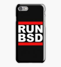 RUN BSD - Parody Design for Unix Hackers / Sysadmins iPhone Case/Skin