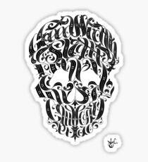 Seven Sins Skull Sticker