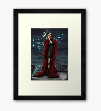 Sparkle moon Framed Print
