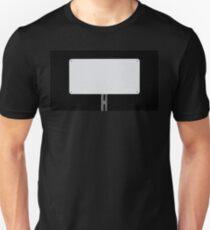 White Sign Black T-Shirt
