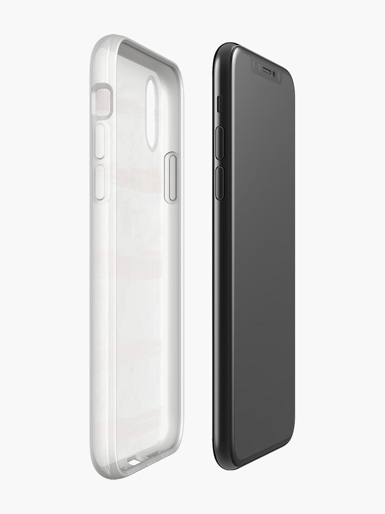 Alternative Ansicht von Moderner Chic-Imitat-Rosen-Goldpinsel streift weißen Marmor iPhone-Hülle & Cover