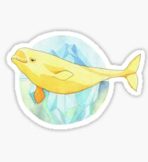Beautiful Beluga Sticker