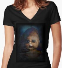 Zombie Doll Women's Fitted V-Neck T-Shirt