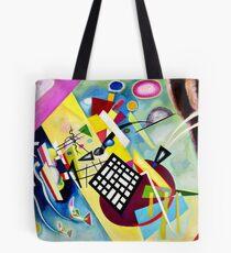 Kandinsky-Black Grid Tote Bag