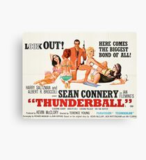 James Bond - Thunderball Movie Poster Canvas Print
