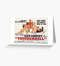 James Bond - Thunderball Movie Poster Greeting Card