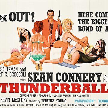 James Bond - Thunderball Movie Poster by TellAVision