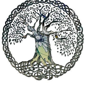 CELTIC KNOTS TREE OF LIFE - spring by butterflyscream
