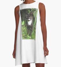 Kitten in the Woods A-Line Dress