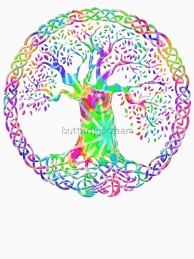 CELTIC KNOTS TREE OF LIFE - tie dye by butterflyscream