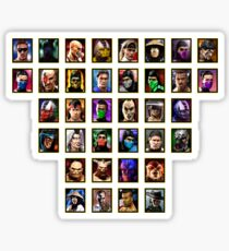 Mortal Kombat 3 Trilogy Character Select Sticker