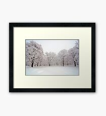 Snow scene Japan Framed Print