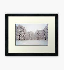 Snow scene Japan Framed Print
