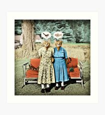 Two Cool Kitties: What's for Lunch? Art Print