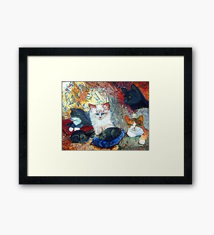 Cats Love Framed Print