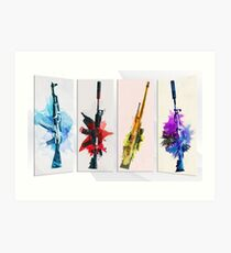 CS:GO Watercolor weapons Art Print