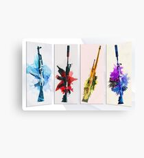CS:GO Watercolor weapons Canvas Print