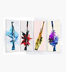 CS:GO Watercolor weapons Photographic Print
