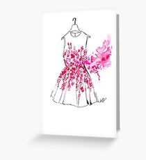 Cherry Blossom Dress Greeting Card