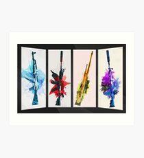 CS:GO Watercolor weapons v2 Art Print