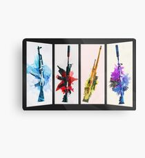 CS:GO Watercolor weapons v2 Metal Print