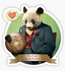 Wise Panda: Love Makes the World Go Around! Sticker