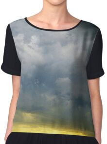Storm Clouds over New York City  Women's Chiffon Top