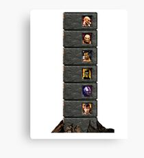 Mortal Kombat Trilogy Tower  Canvas Print