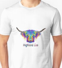 Rainbow Highland Coo Unisex T-Shirt