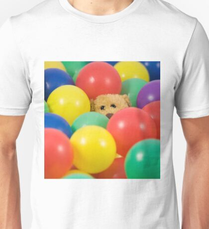 Ted overwhelmed in the ball pool - square T-Shirt