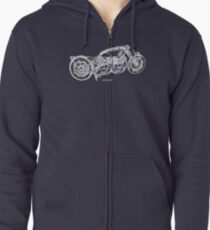 Twincent Black Shadow Zipped Hoodie