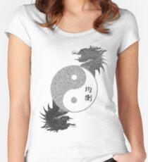 Ying Yang - Equlibrium Women's Fitted Scoop T-Shirt