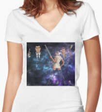 Archer - Galaxy Mix Women's Fitted V-Neck T-Shirt