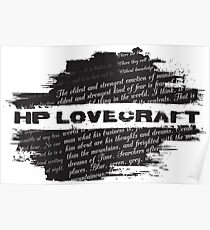 HP Lovecraft Quotes Poster