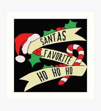 Santa Ho Ho Ho Art Print