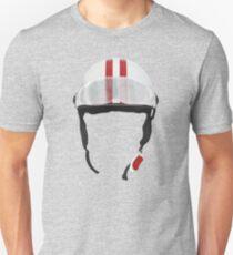 Striped Scooter Kpop Helmet Red Unisex T-Shirt
