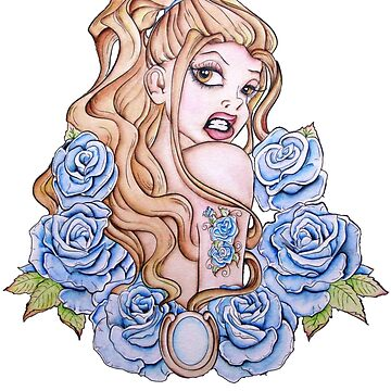 A Rose by Any Other Name - Fantasy Pinup Tattoo Art by ckdesigns