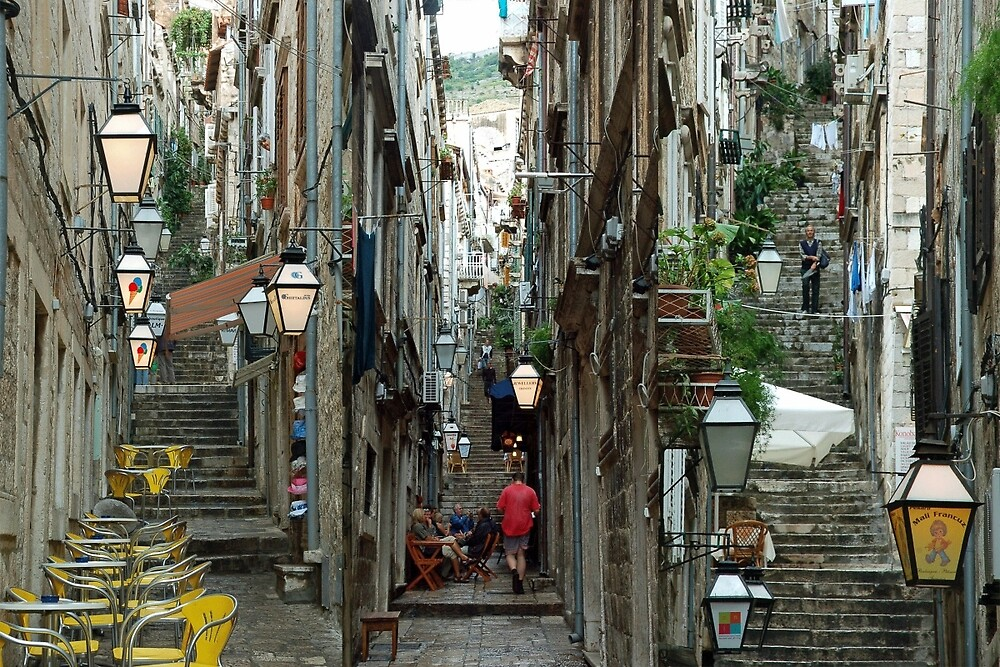 A collage of the streets of Dubrovnik (Croatia) by Arie Koene