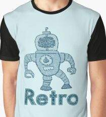 Retro Robot  Graphic T-Shirt