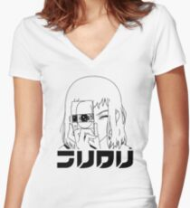 FLCL - Mamimi Camera Women's Fitted V-Neck T-Shirt