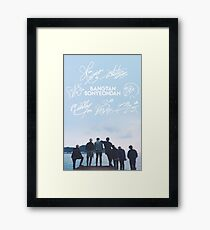 BTS Signature light blue Edit Framed Print