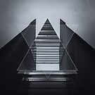 The Hotel (experimental futuristic architecture photo art in modern black & white) by badbugs