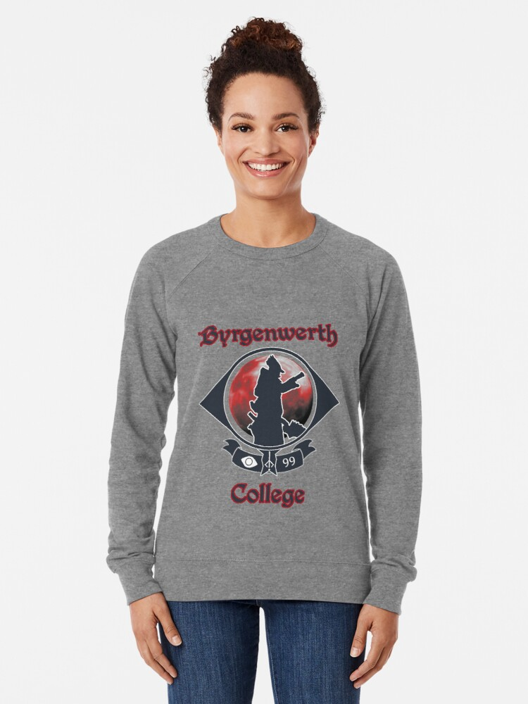 Alternate view of Byrgernwerth College - Go Hunters! Lightweight Sweatshirt