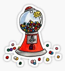 Gumball Machine Watercolor Sticker Sticker