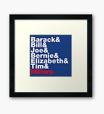 Democrats Helvetica Framed Print