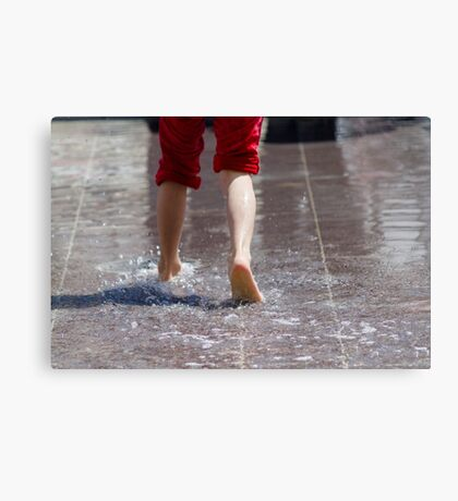feet in the water Canvas Print