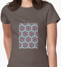Flower Pattern Women's Fitted T-Shirt